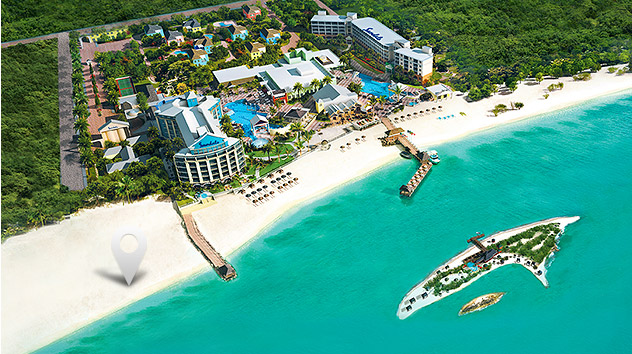 9fed2324341840 Explore Sandals Royal Bahamian. A Map Depicting The Location Of Sandals All  Inclusive Royal Bahamian Resort ...